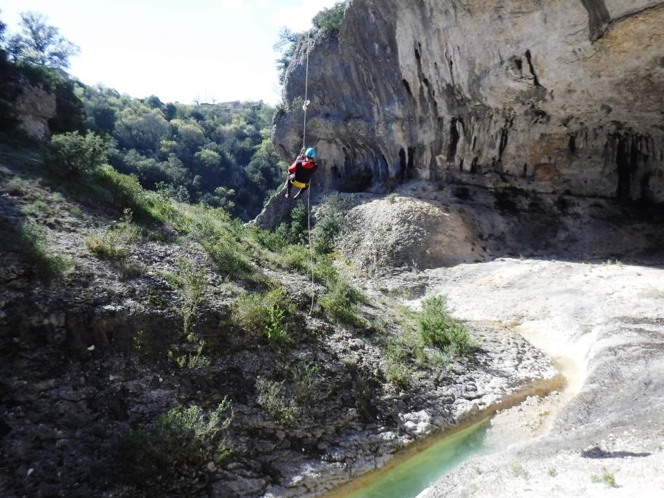 Ardeche Canyon sec Barrancos Rochecolombe