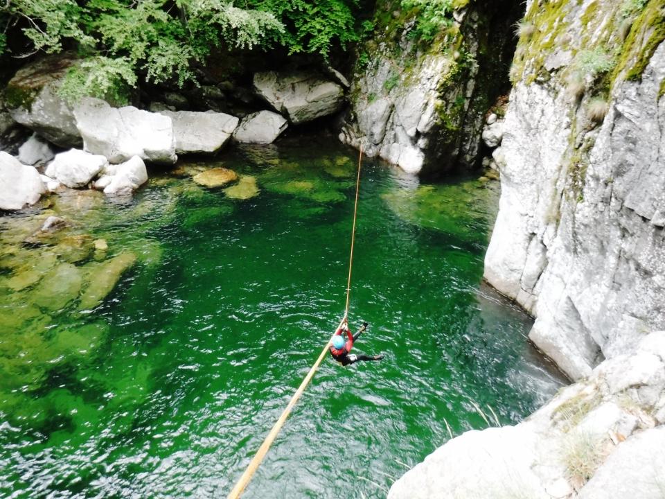 Canyoning en Ardeche, Canyon Borne Tyrolienne