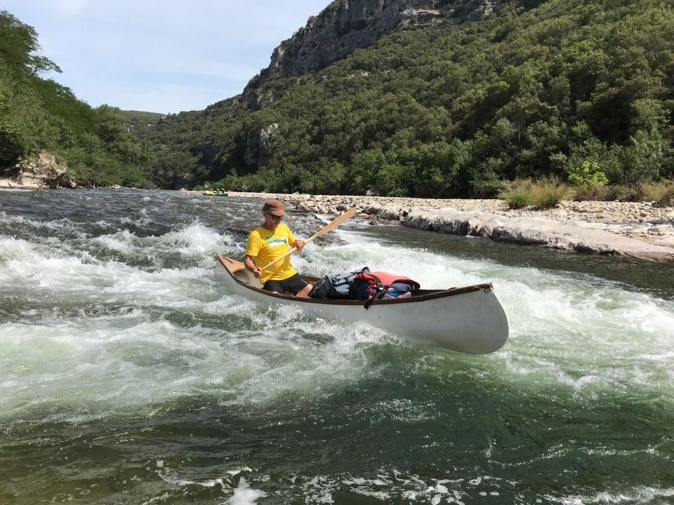Descente des Gorges de l'Ardèche en canoë