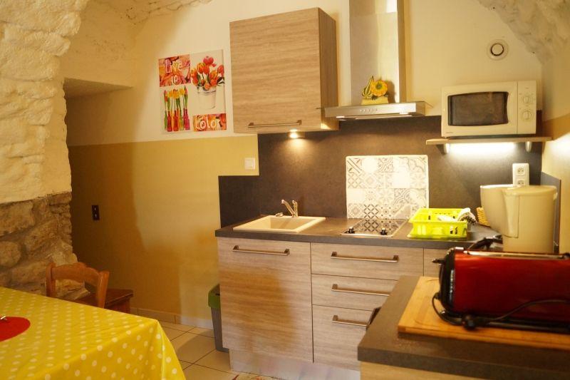 Espace cuisine Gîte Les Voutes, gite pour 2 personnes