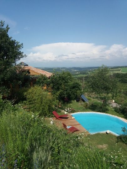 La piscine et la vue magnifique