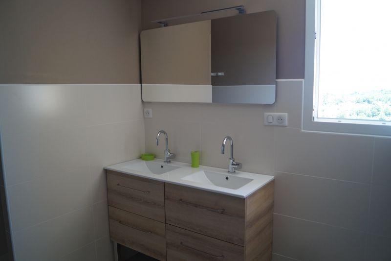 Salle d'eau : Douche / Lavabo du gite la Clède, gite pour 6 personnes