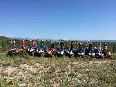 Sortie groupe quad Ardèche